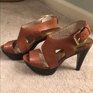 Michael Kors Brown Leather Heels